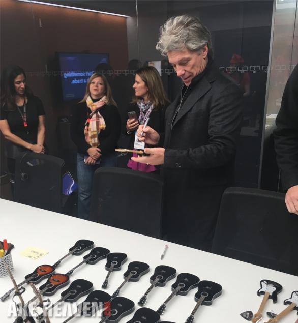 Bon Jovi Signs Mini Guitar