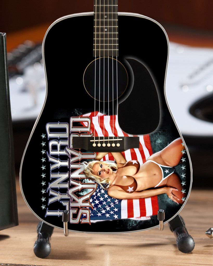officially licensed lynyrd skynyrd tribute mini guitars axe heaven miniature guitars. Black Bedroom Furniture Sets. Home Design Ideas