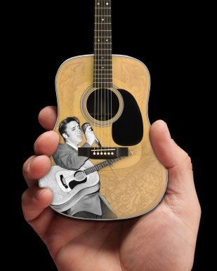 Elvis Presley 55' Tribute Acoustic Mini Guitar Model – Officially Licensed
