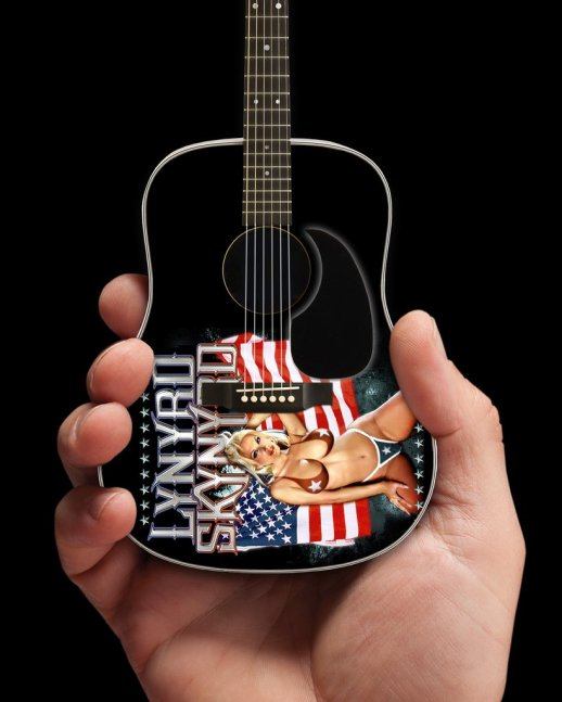 Lynyrd Skynyrd USA Tribute Acoustic Mini Guitar – Officially Licensed