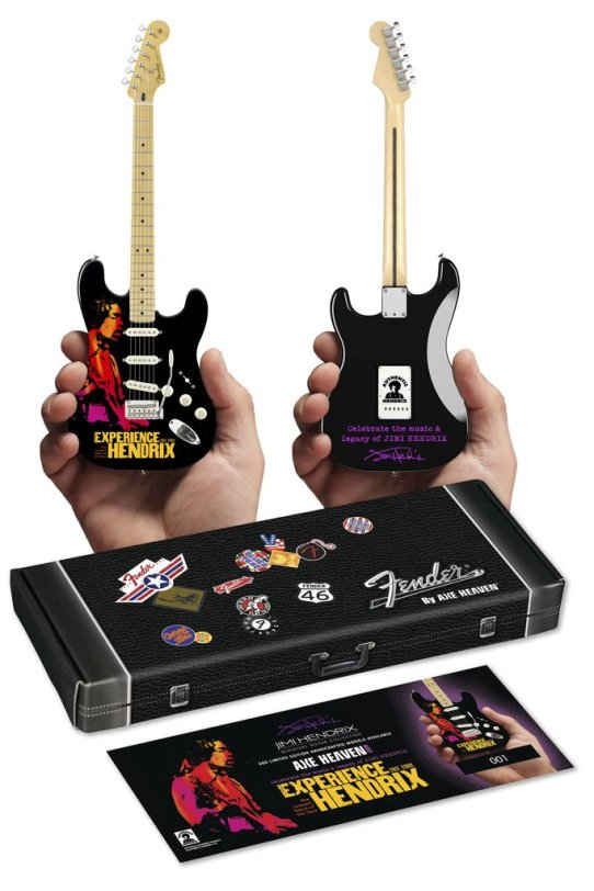 Limited Edition 2017 Experience Hendrix Tour Fender™ Strat™ Mini Guitar with Certificate of Authenticity and Specially-Created Gift Box