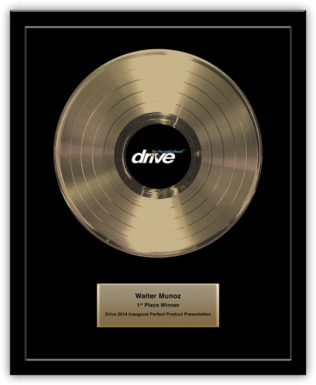 Gold Record Award - Basic 12""