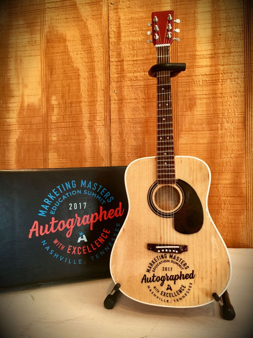 Marketing Masters Laser-Engraved Guitar and Custom Gift Box