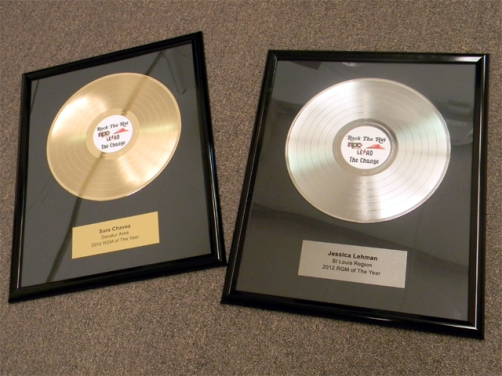 Gold Record and Platinum Record Awards for Pizza Hut - Basic 12""