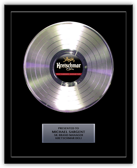 Platinum Record Award for Kretschmar Deli - Basic 12""