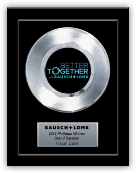 Platinum Record Award for Bausch + Lomb - Basic 7""