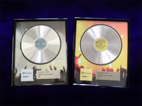 "Platinum Record Awards for Rhapsody - 12"" Deluxe"