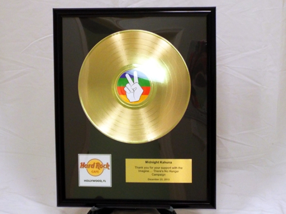 "Gold Record Plaque for Hard Rock Cafe - 12"" Deluxe"