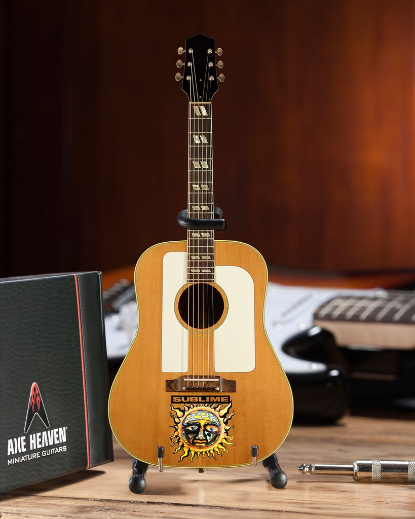 Officially Licensed Sublime Small Sun Logo Bradley Nowell Acoustic Mini Guitar