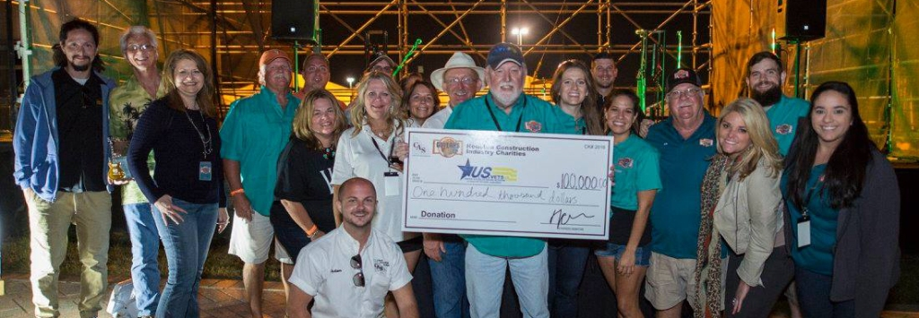 Custom promo products by AXE HEAVEN® helped Houston Construction Industries Charities raise $100,000 for U.S. Vets at their Guitars N' Cars 2016 event.
