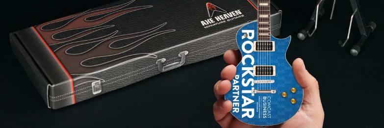 Comcast Business Partner Rockstar Custom Promo Mini Guitar