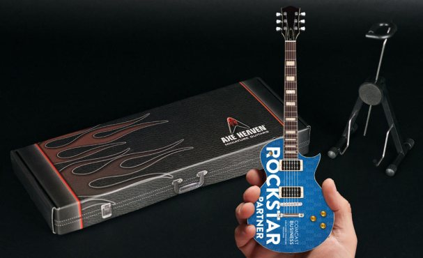 Comcast Rockstar Partner Custom Promo Mini Guitar by AXE HEAVEN®