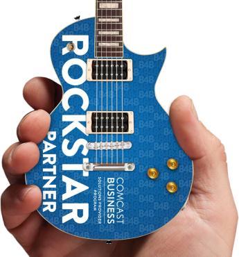 Comcast Rockstar Custom Promo Mini Guitar Close-Up