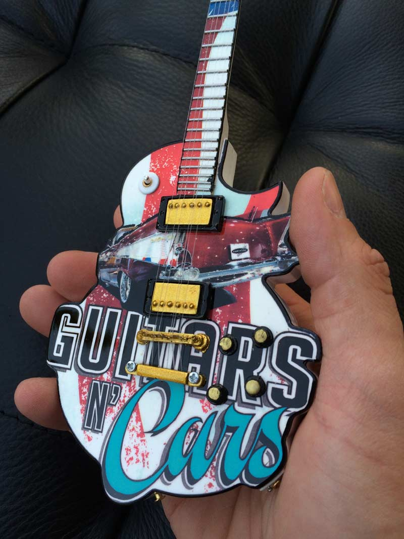 "Guitars N' Cars 10"" Promotional Mini Guitar by AXE HEAVEN®"