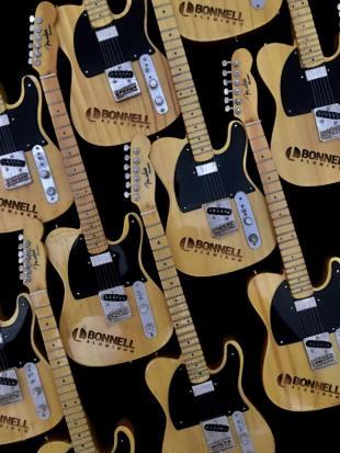 Laser Engraved Promo Mini Guitars - Fender™ Esquire Tele™ for Bonnell Aluminum