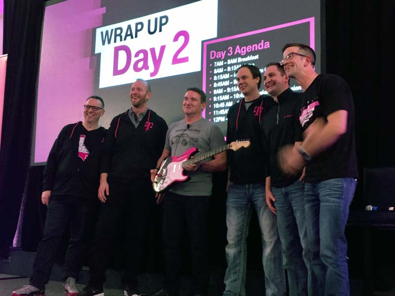 Rich Garwood of T-Mobile Receives Real Promo Guitar Rockstar Award