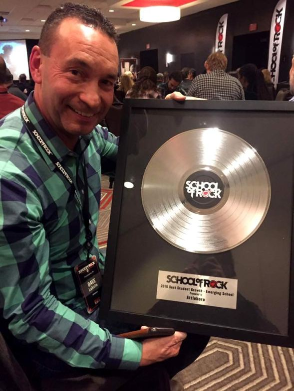 School of Rock Platinum Record Award Plaque