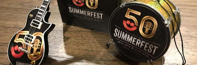 Summerfest 50th Anniversary Promotional Ornaments by AXE HEAVEN®