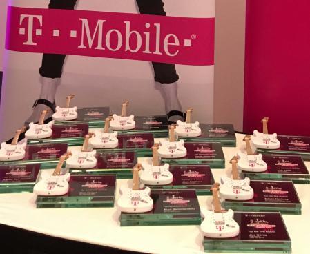 "T-Mobile 7"" x 5"" Glass Frame Guitar Rockstar Awards"