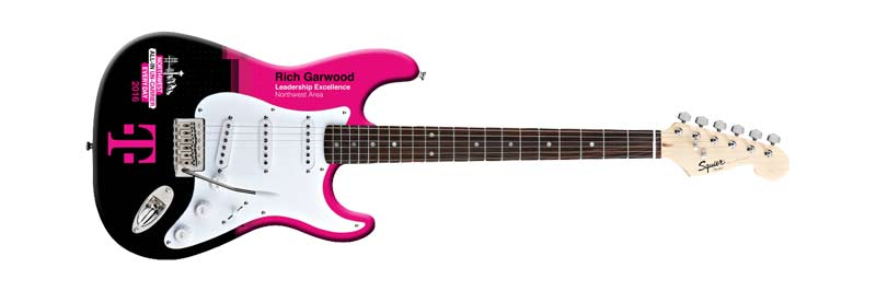 T-Mobile Custom Promo Real Fender™ Squier Guitar by AXE HEAVEN®
