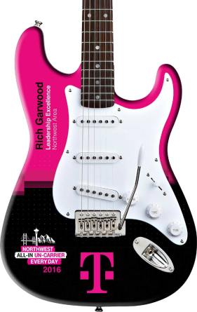 T-Mobile Real Promo Guitar Rockstar Award Close-up