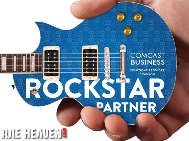 Comcast Business Partner Rockstar Promotional Miniature Guitar by AXE HEAVEN®