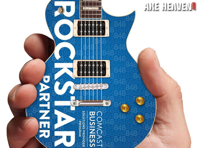 Comcast Business Partner Rockstar Promotional Miniature Guitar by AXE HEAVEN®