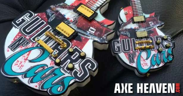 Guitars N' Cars 6″ Custom Promo Mini Guitar Ornament by AXE HEAVEN®