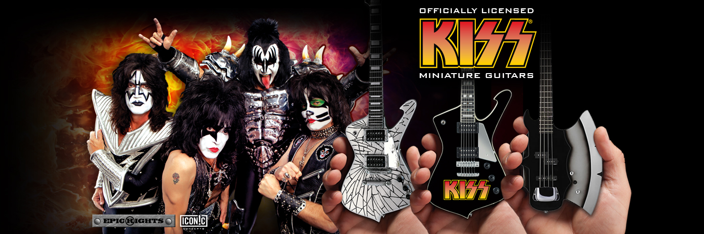 Officially Licensed KISS® Mini Guitars by AXE HEAVEN® and Iconic Conceptskiss_1440_480