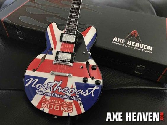 Northcoast Union Jack Promo Mini Guitar Rocks Cleveland