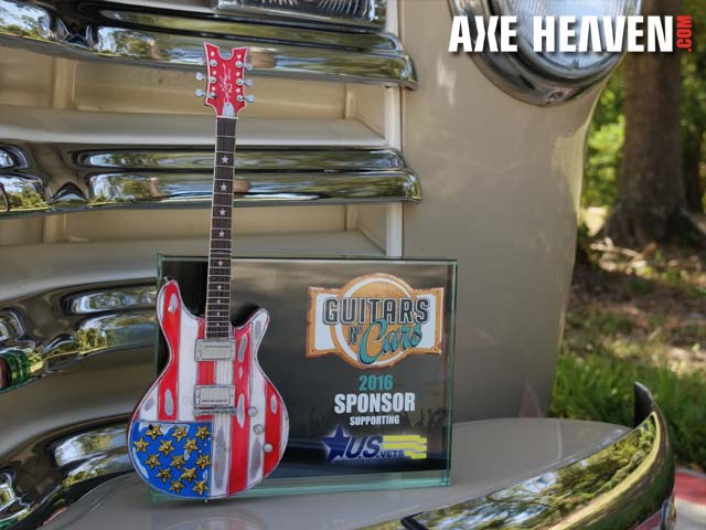 Guitars N' Cars Rockstar Award with Custom Mini Guitar by AXE HEAVEN®