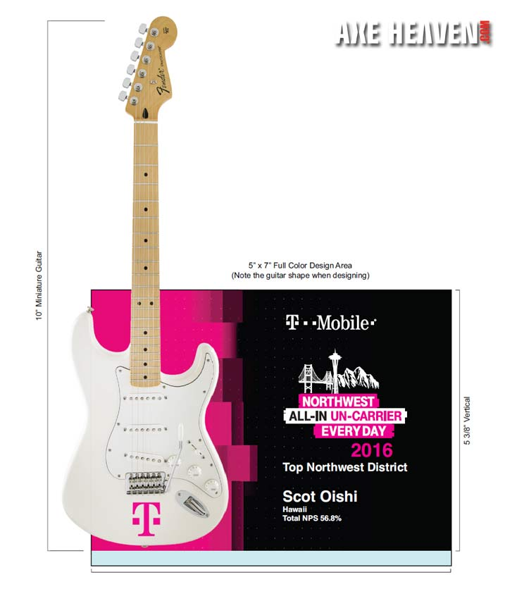 T-Mobile Rock Star Award with Promo Mini Guitar