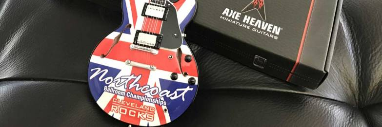 Northcoast Ballroom Championships Promotional Mini Guitar Rocks Cleveland
