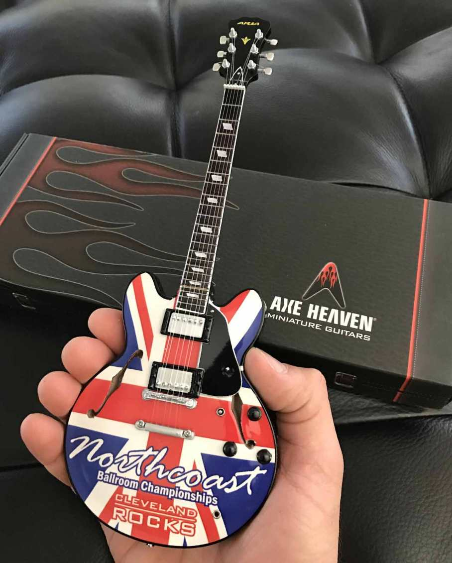 Northcoast Ballroom Championships Promotional Miniature Guitar by AXE HEAVEN®