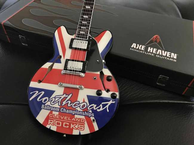 Northcoast Ballroom Championships Promo Miniature Guitar by AXE HEAVEN®