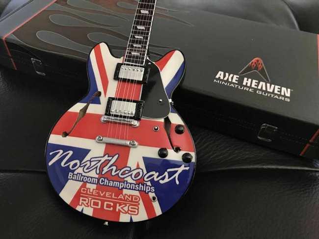Northcoast Ballroom Championships Promo Miniature Guitar by AXE HEAVEN®