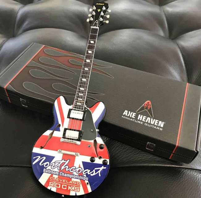 Northcoast Ballroom Championships Promotional Mini Guitar by AXE HEAVEN®