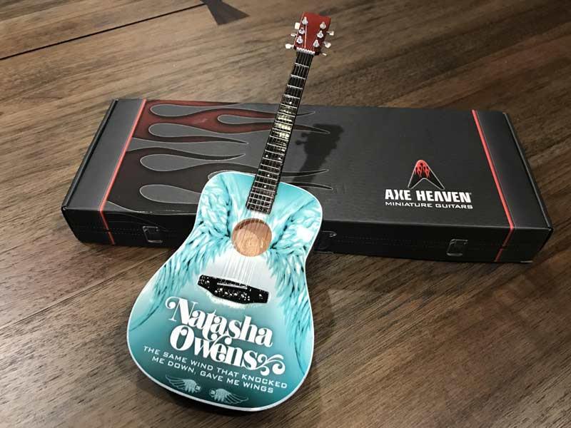 Natasha Owens Promo Acoustic Mini Guitar