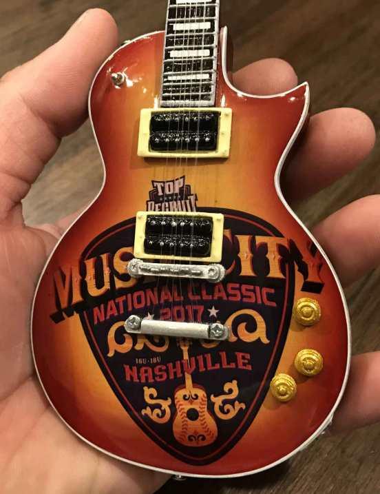 Promo Miniature Guitar for Music City Futures Classic in Nashville