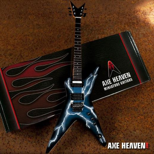 *Licensed Dimebag Darrell Signature Lightning Bolt Mini Guitar Replica Collectible