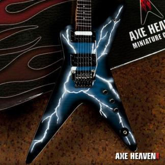 *Licensed Dimebag Darrell Signature Lightning Bolt Mini Guitar Replica Collectible