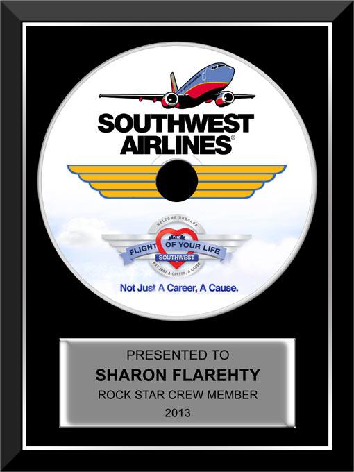 4.5″ CD Award for Southwest Airlines