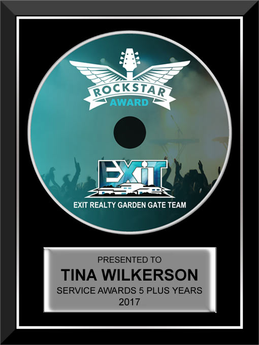 4.5″ CD Rockstar Award for Exit Realty