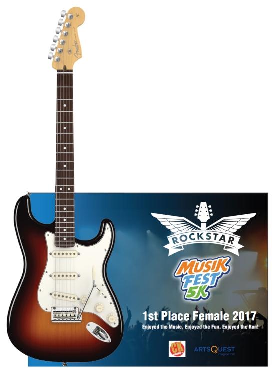 MusicFest 5K 1st Place Female 2017 Rockstar Trophy (virtual mock-up) by AXE HEAVEN®