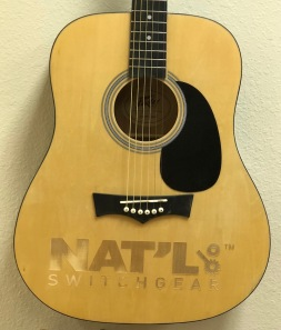 Full-Size-Real Laser-Engraved Acoustic Guitar Close-Up