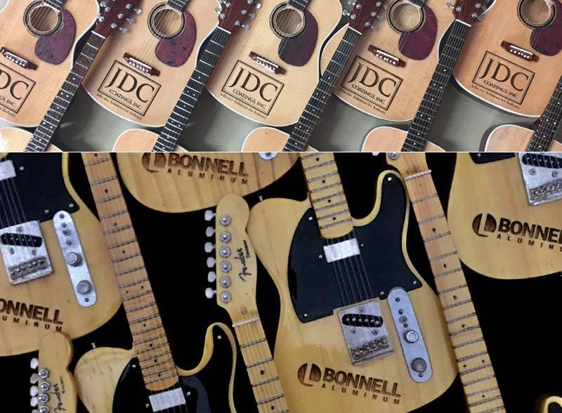 Laser-Engraved Real Guitars