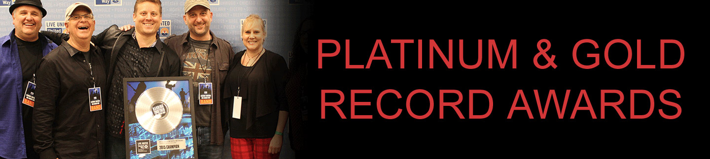 Platinum Record Awards, Gold Record Awards, and CD Awards by AXE HEAVEN®