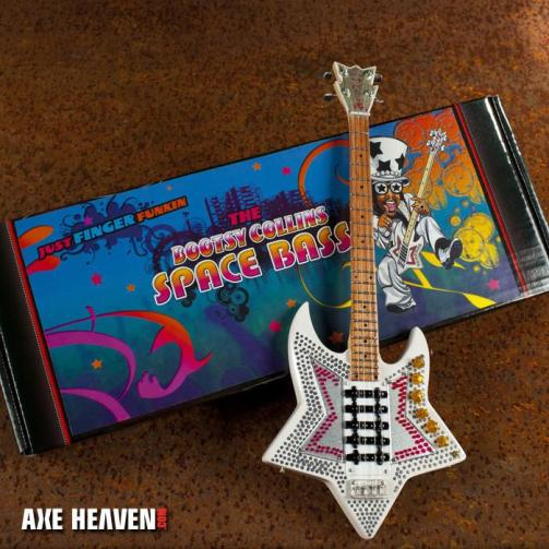 Custom Gift Box Label for Bootsy's Officially Licensed Mini Space Bass by AXE HEAVEN®