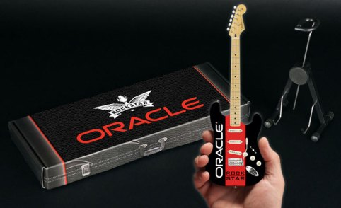 "Custom Label on Gift Box for 10"" Promo Mini Guitar by AXE HEAVEN®"
