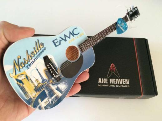 Full-Color Promo Acoustic Mini Guitar by AXE HEAVEN®